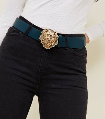 Teal Lion Buckle Hip Belt