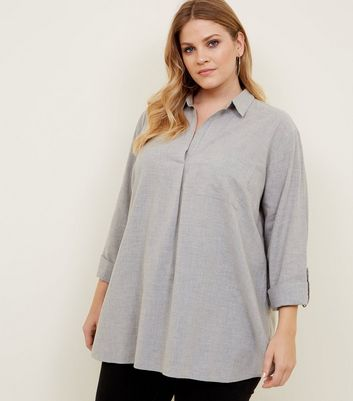 Curves Grey Overhead Shirt