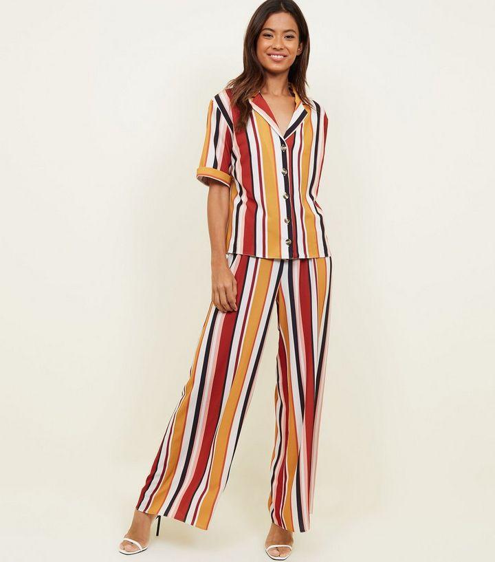 1c904eaac9 Orange Multi Stripe Short Sleeve Shirt | New Look
