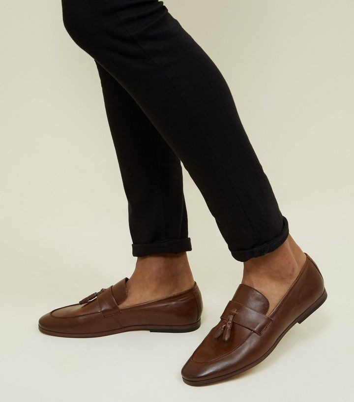 918a9f4f594 Dark Brown Tassel Loafers
