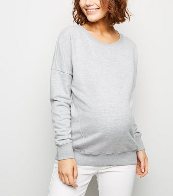 Maternity Grey Side Split Sweatshirt