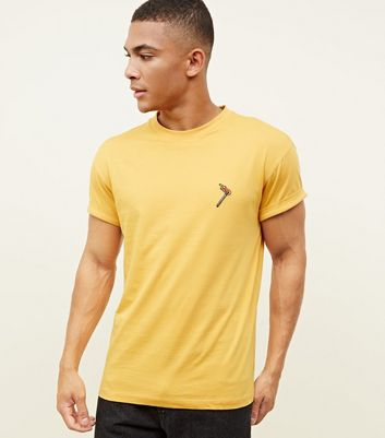 Yellow Match Embroidered T-Shirt