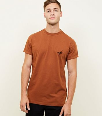 Rust Seattle Embroidered T-Shirt