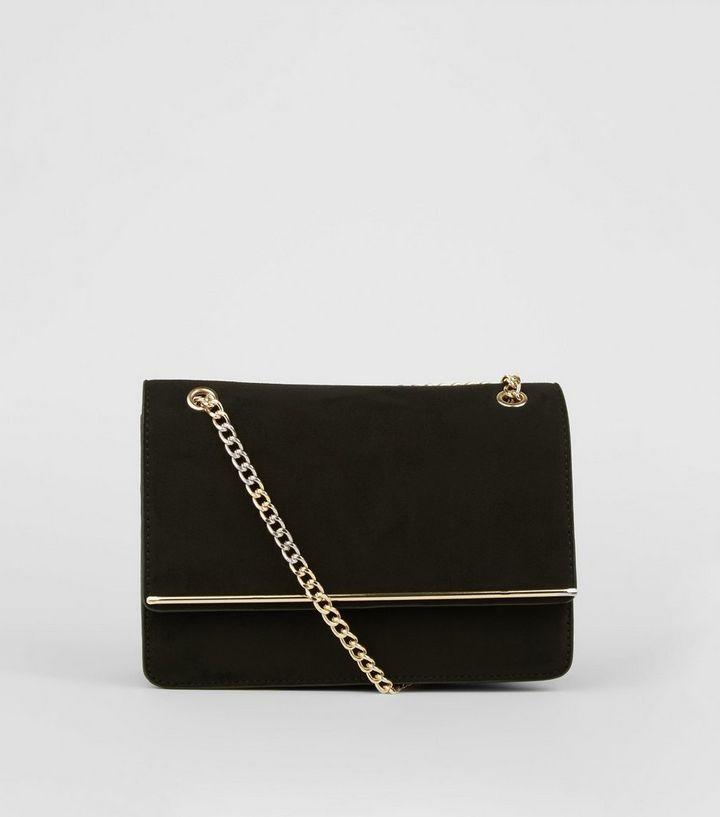 Black Chain Strap Shoulder Bag  0523fc3262a8a