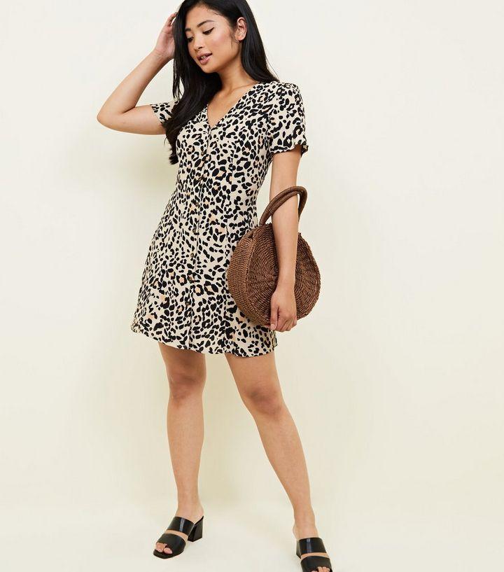 6cdb481007 ... Petite Brown Leopard Print Tea Dress. ×. ×. ×. Shop the look