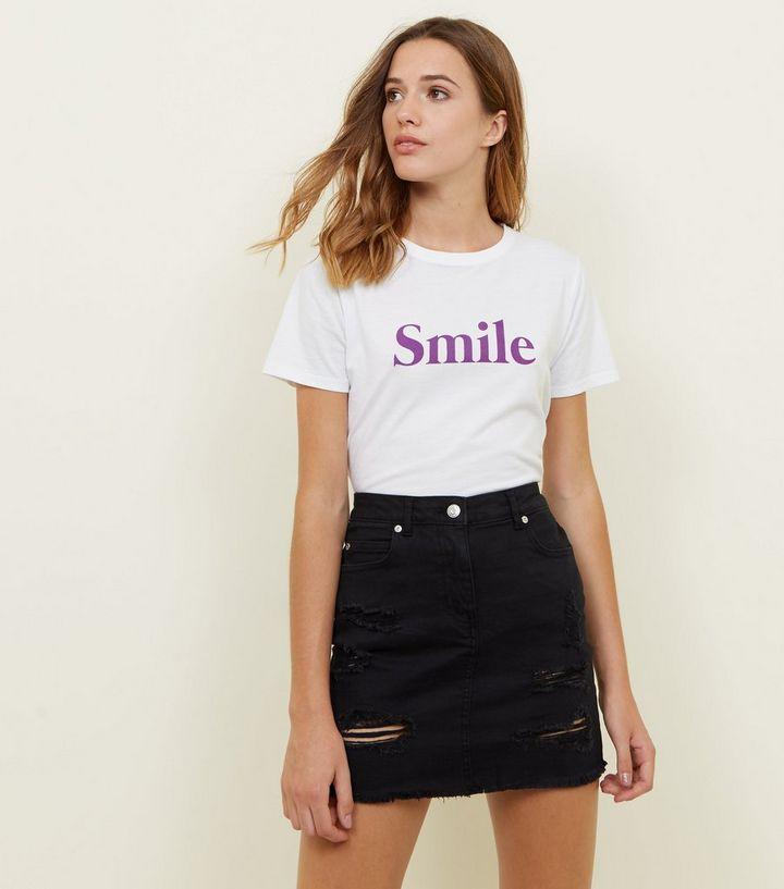 1f8a58e027 Parisian Black Ripped Denim Skirt | New Look