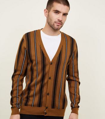 Rust Vertical Stripe Cardigan