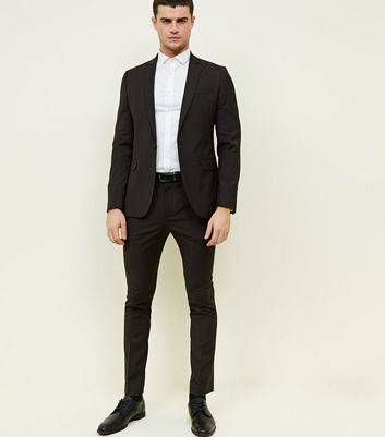 Brown Check Tapered Skinny Trousers