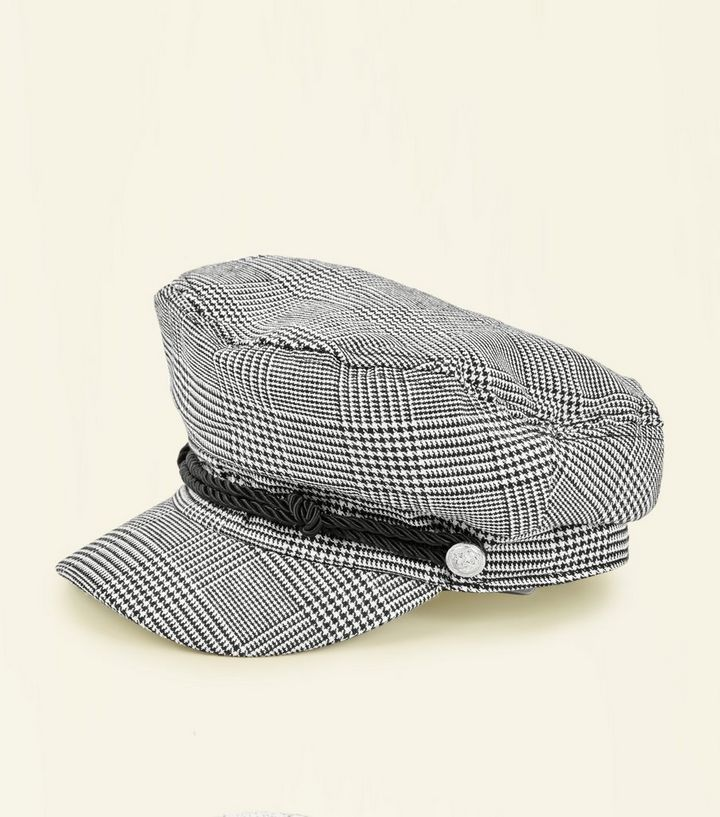 c2084822d2356 Black Prince of Wales Check Baker Boy Hat