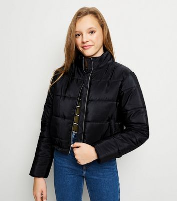 Girls Black Puffer Jacket