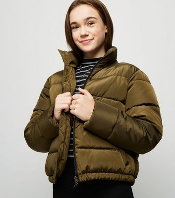 Girls Khaki Puffer Jacket