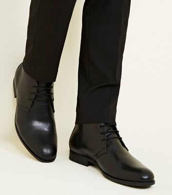 Black Formal Chukka Boots by New Look