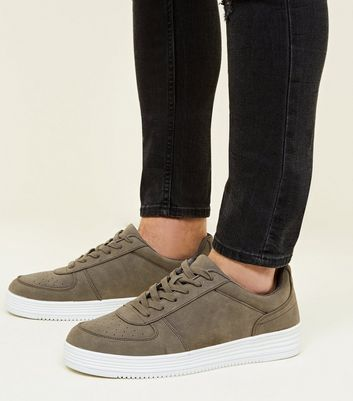 Dark Grey Perforated Toe Trainers
