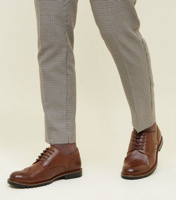 Dark Brown Cleated Sole Brogue Shoes