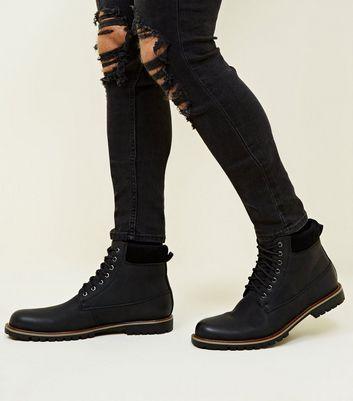 black worker boots mens