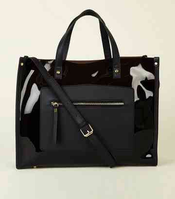 Black Transparent Tote Bag