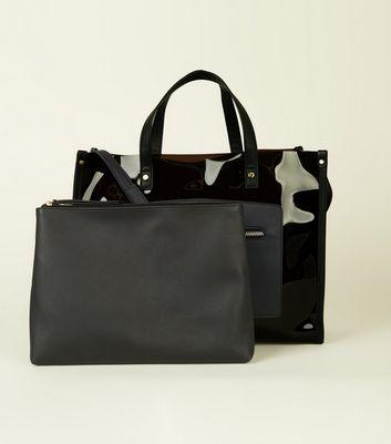 Black Transparent Tote Bag New Look