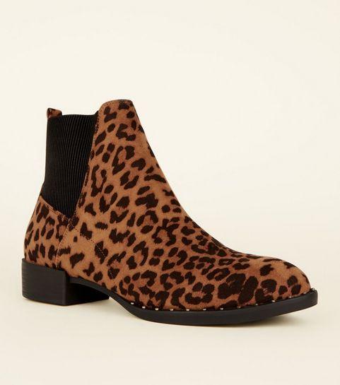 ... Bottes grises style western à semelles cloutées et imprimé léopard ... c1ae05b7fe7b