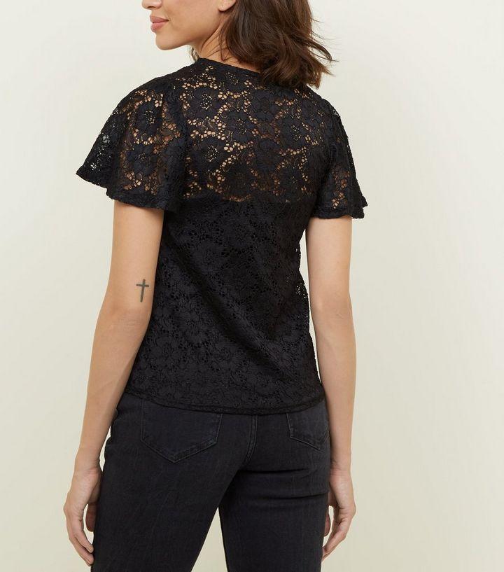 55480b7cc73 ... Black Lace Button Tie Front Top. ×. ×. ×. Shop the look