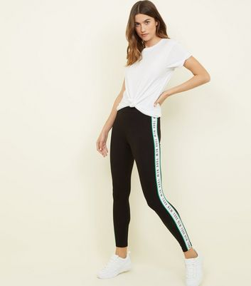 Leggings Look New York Slogan Black Tape 7a6wnq