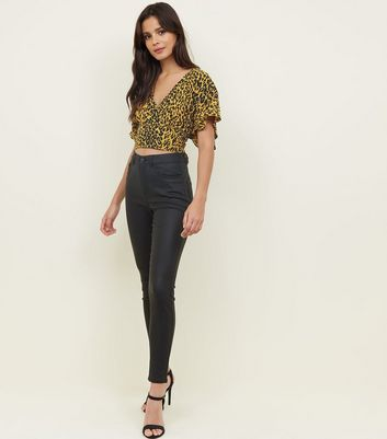 Black Coated High Rise Skinny 'Lift & Shape' Jeans