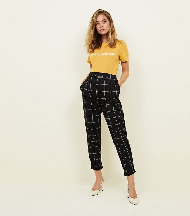 enjoy lowest price lovely design online sale Petite Black Grid Check Trousers Add to Saved Items Remove from Saved Items