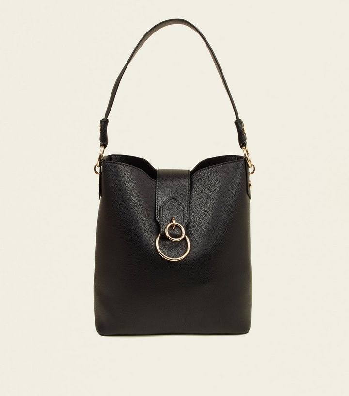 new lower prices best price separation shoes Black Ring Front Hobo Bag Add to Saved Items Remove from Saved Items