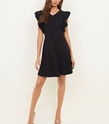Mela Black Frill Sleeve Dress New Look