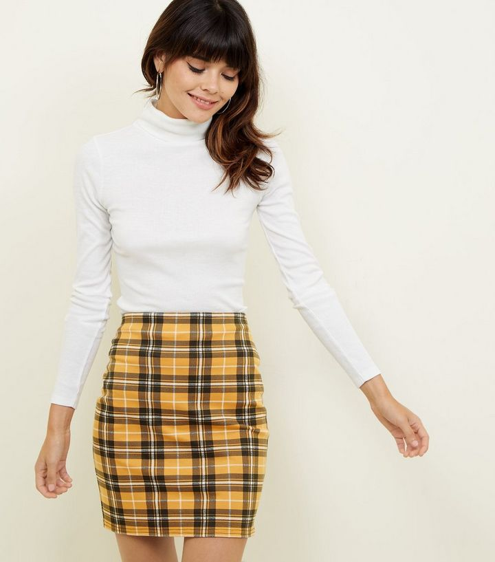 48e1546f74 Mustard Check Mini Skirt Add to Saved Items Remove from Saved Items