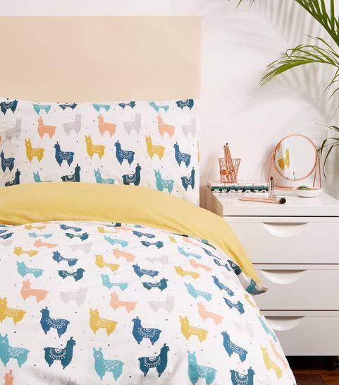 0f34ea5356f ... Multi Colour Llama Print Single Bedding Set ...