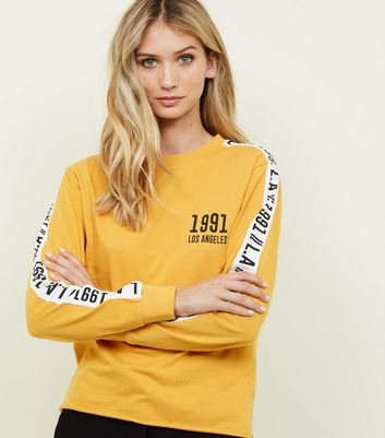 Mustard 1991 Printed Long Sleeve T-Shirt