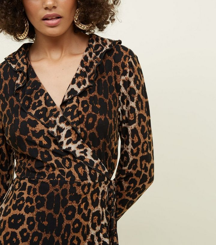 8989dc44c5aa ... Mela Brown Leopard Print Wrap Dress. ×. ×. ×. Shop the look
