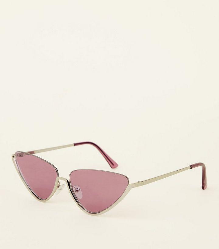 45d3e9e46b94 Lilac Tinted Cat Eye Sunglasses   New Look