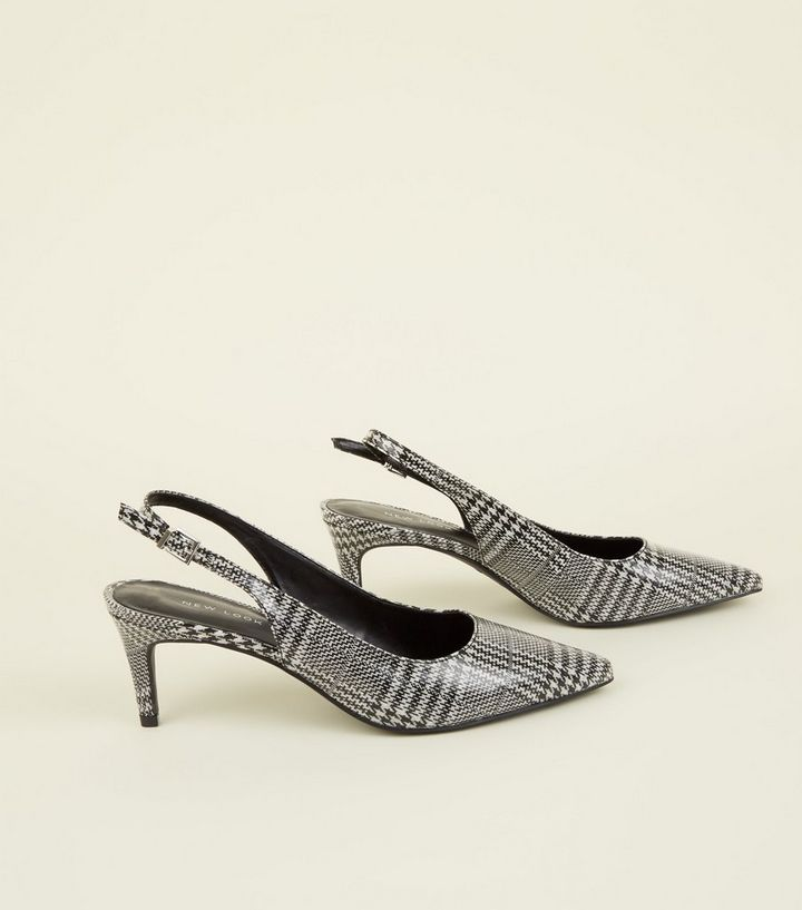 5a644affb05 ... Black Check Slingback Kitten Heels. ×. ×. ×. Shop the look