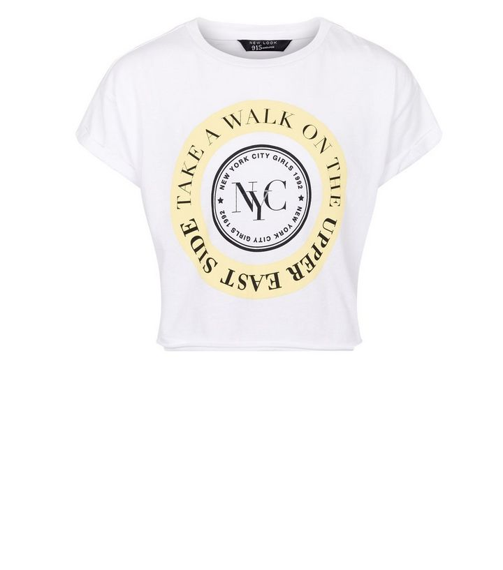 Girls White NYC Upper East Side Logo T-Shirt  aaac1714a6e