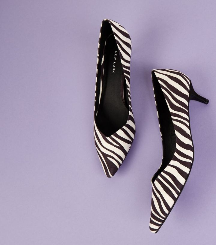 a0685a93c30 ... Black Zebra Print Kitten Heel Pointed Courts. ×. ×. ×. Shop the look