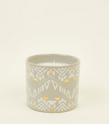 Grey Aztec Jade Jasmine and Lemon Scented Candle