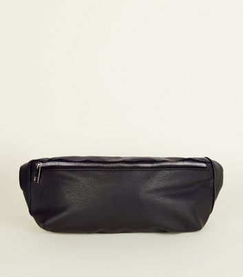 Black Zip Front Bum Bag