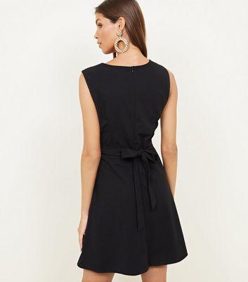 Mela Black Frill Front Dress New Look