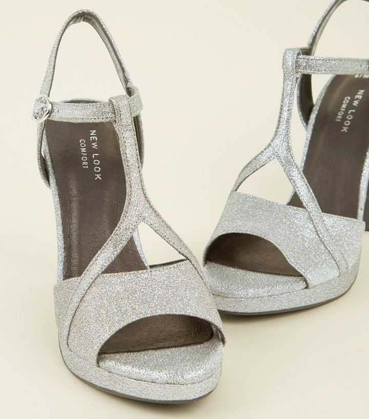 a35094ecf137 ... Silver Glitter Comfort T-Bar Platform Sandals. ×. ×. ×. Shop the look