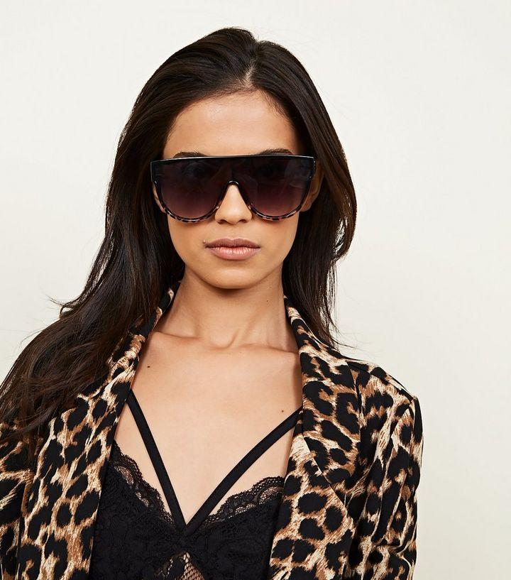 a7a41f0b098c5e ... Black Leopard Print Flat Top Sunglasses. ×. ×. ×. Shop the look