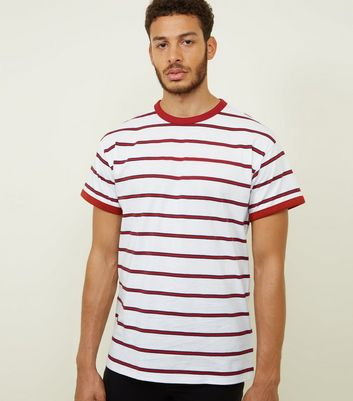 Red Stripe Ringer T-Shirt