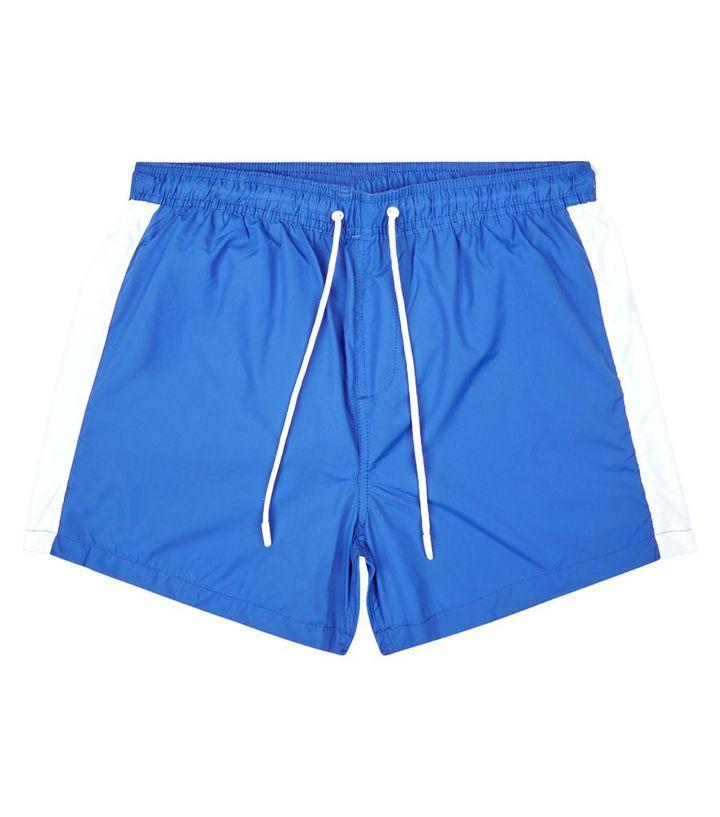 56873c2657f9c ... Bright Blue Side Stripe Swim Shorts. ×. ×. ×. Shop the look