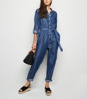 Womens Blue Navy Jumpsuits Blue Playsuits New Look