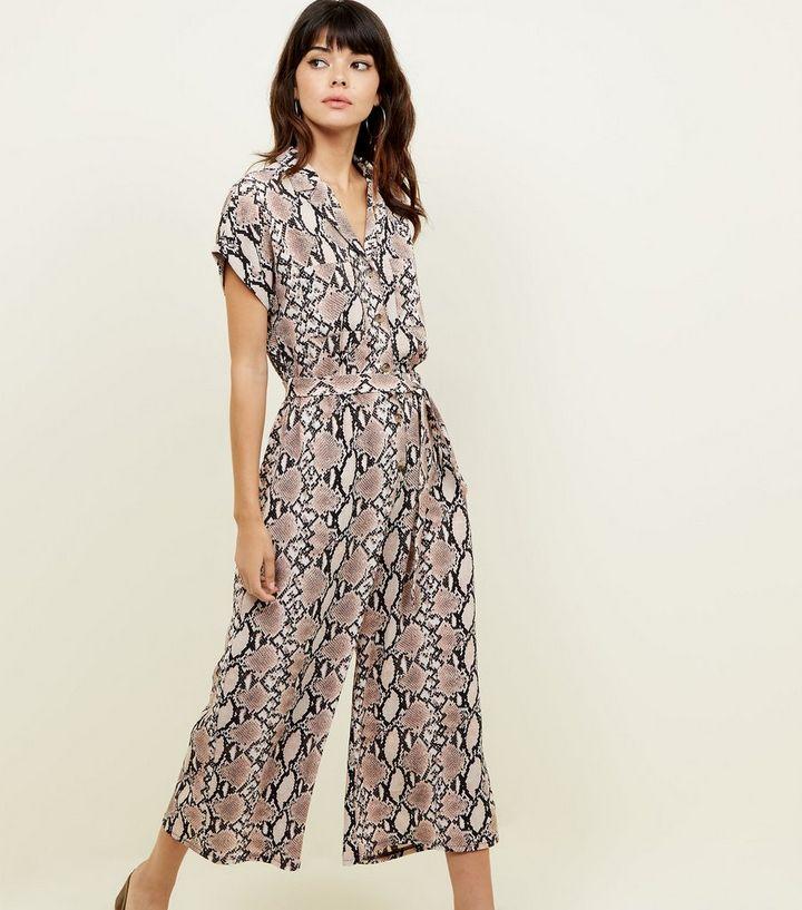 3f51b9b529f Brown Snake Print Jumpsuit