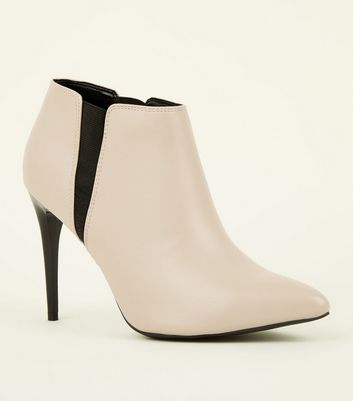 White Stiletto Heel Chelsea Shoe Boots