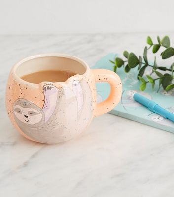 Coral Sleepy Sloth Mug