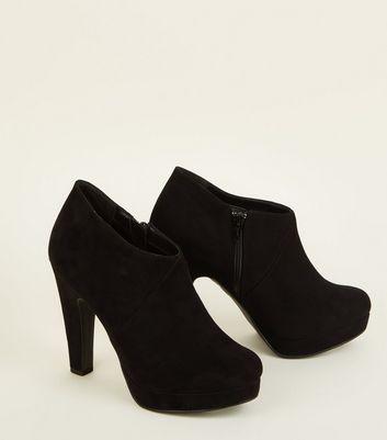 Black Comfort Suedette Platform Shoe
