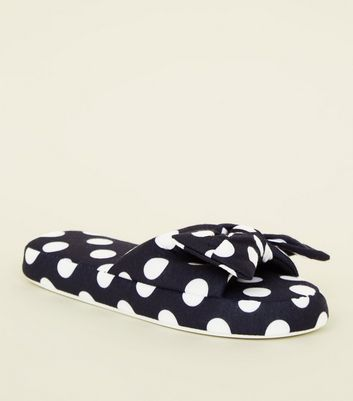 Back Polka Dot Slider Slippers