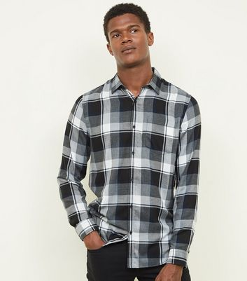 Light Grey Long Sleeve Buffalo Check Shirt